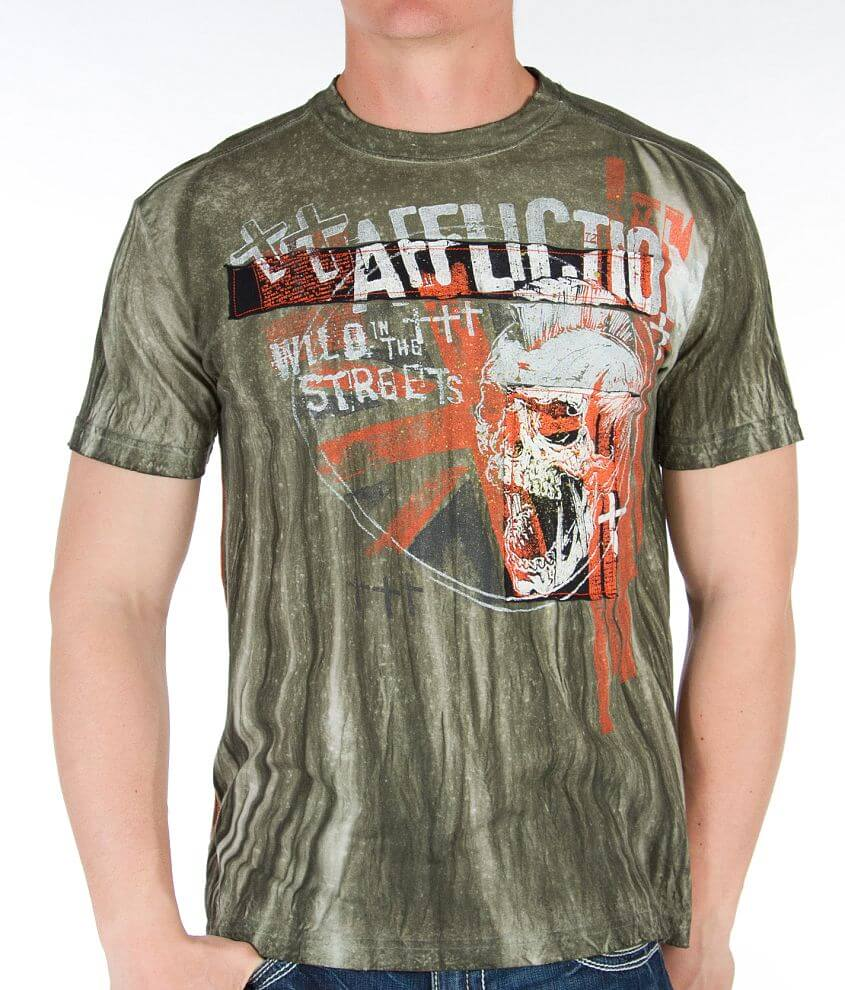 Affliction Wild In The Streets T-Shirt front view