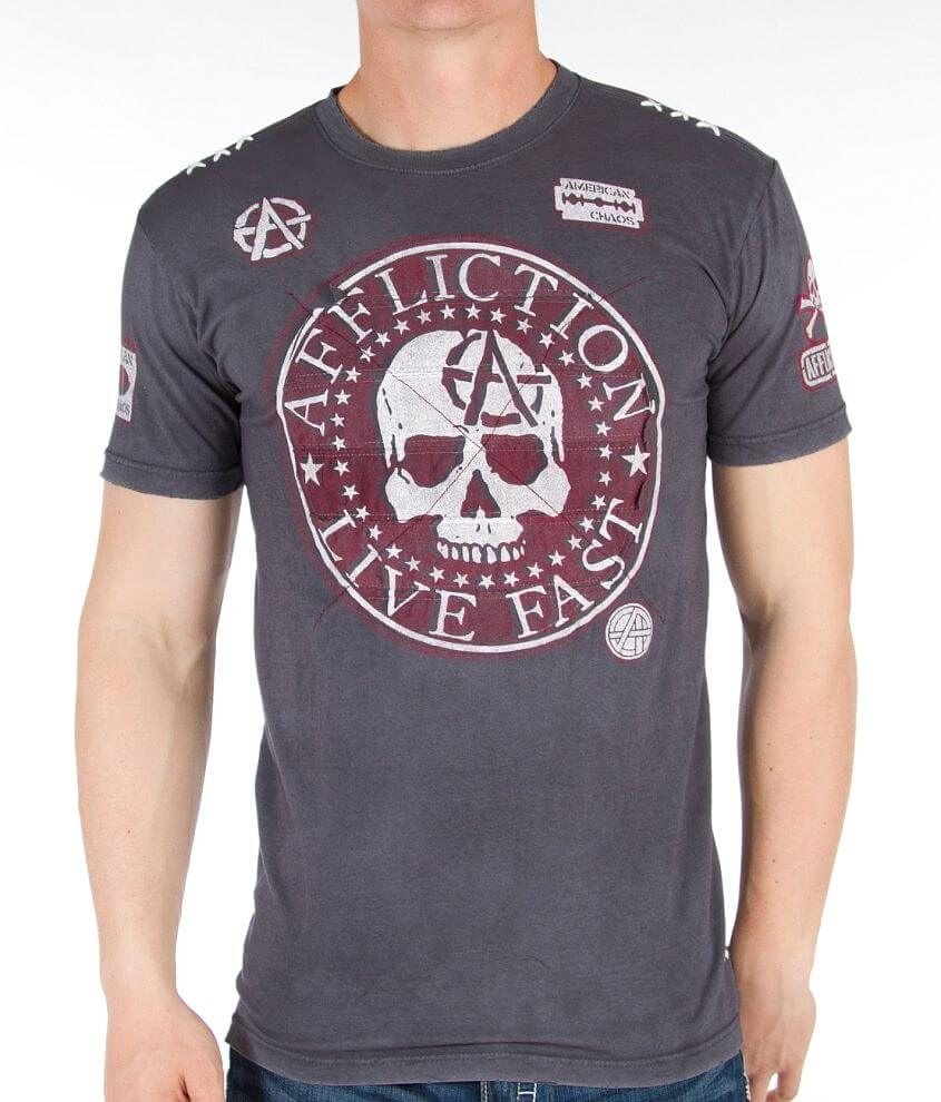 Affliction Night Smash T-Shirt front view