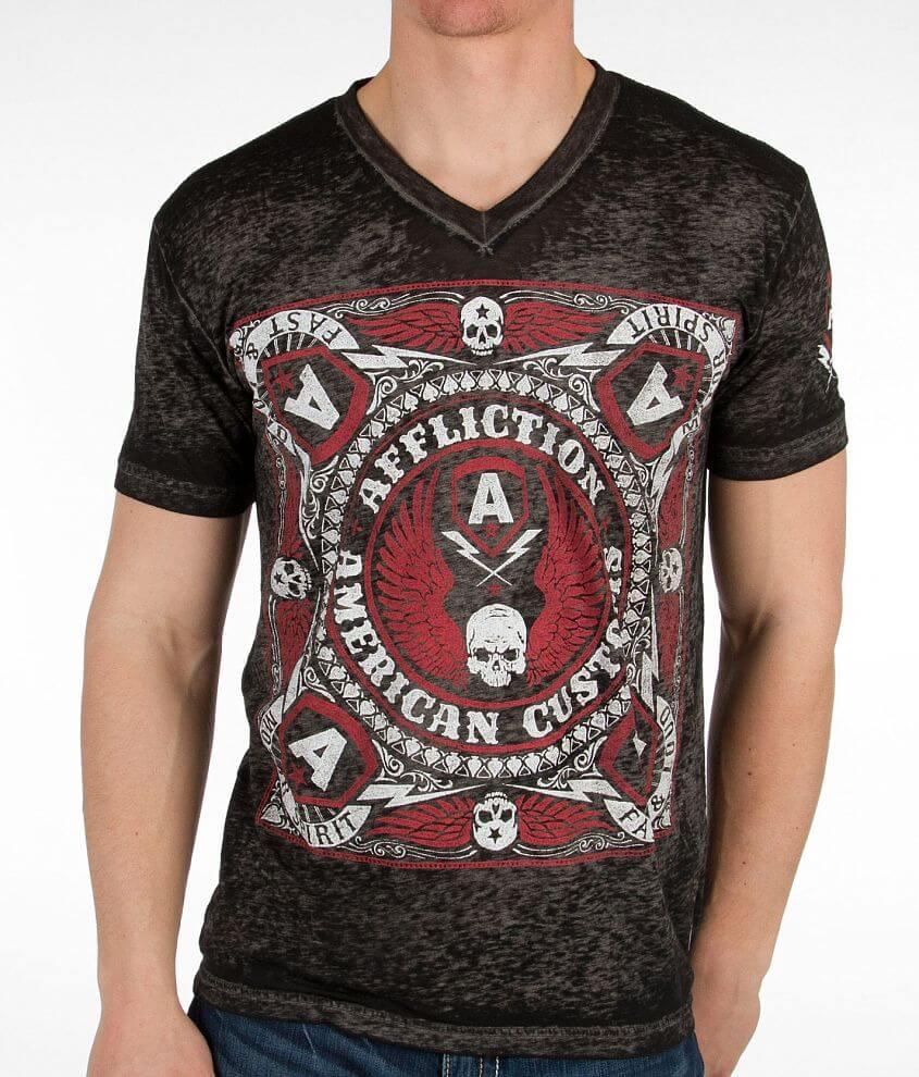Affliction American Customs Bandana T-Shirt front view