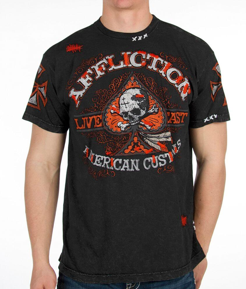 Affliction American Customs Spade Thrills T-Shirt front view