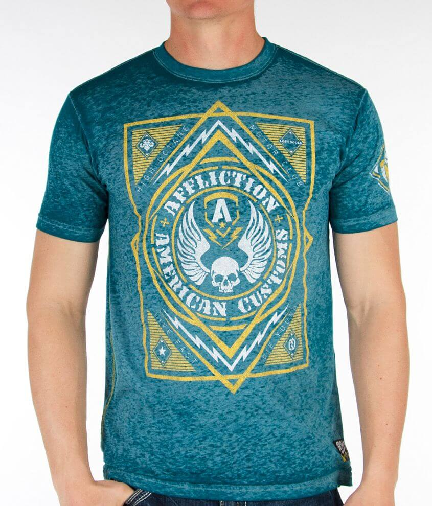 Affliction American Customs Mass Exposure T-Shirt front view