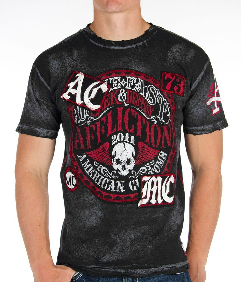 Affliction American Customs Live Fast T-Shirt front view