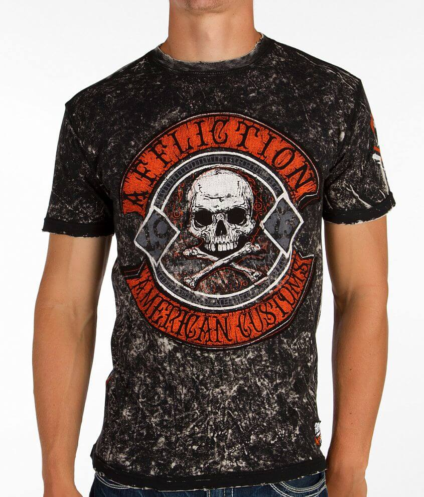 Affliction American Customs Pale Ale T-Shirt front view