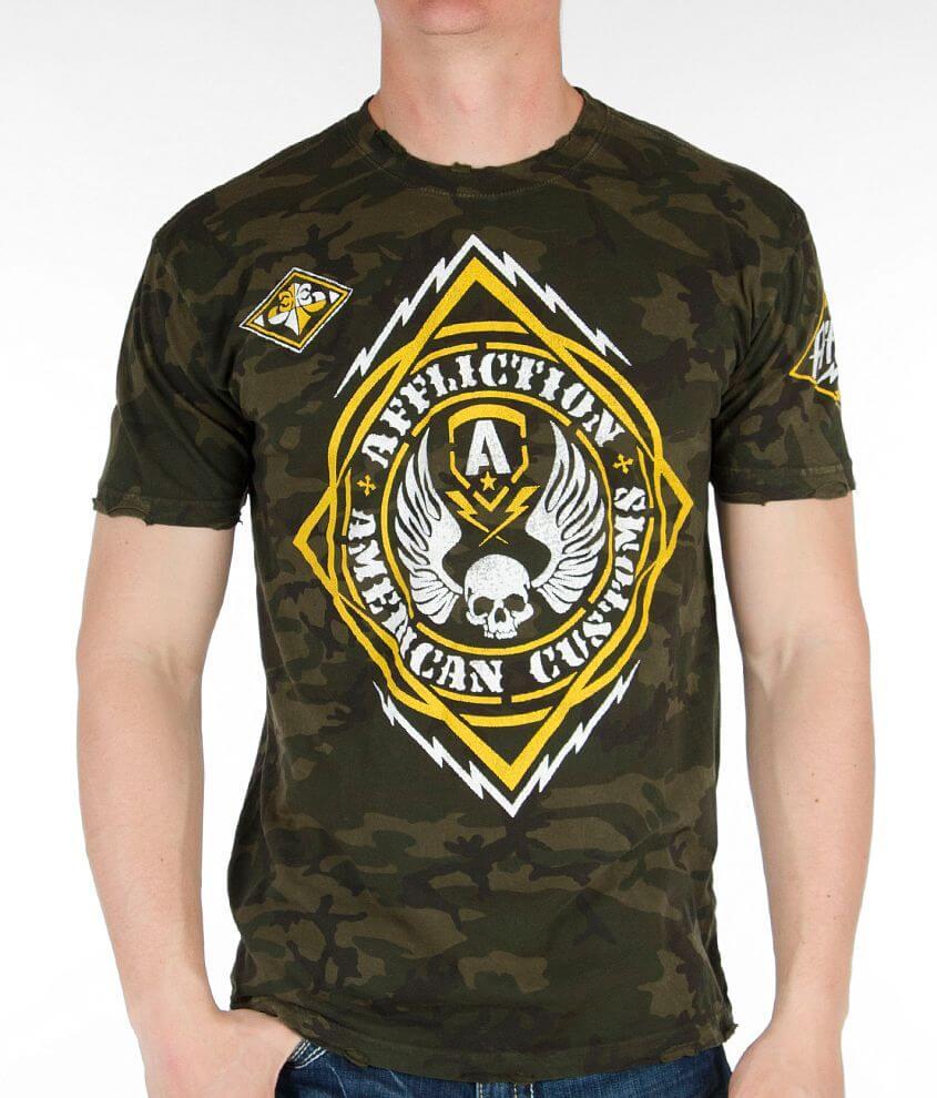 Affliction American Customs Mass Power T-Shirt front view