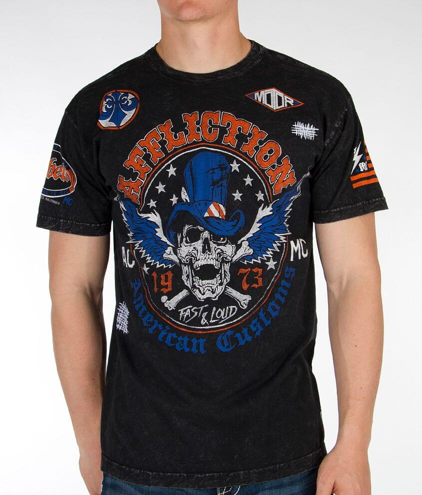Affliction American Customs Straight Six T-Shirt front view