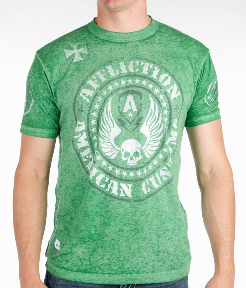 Affliction American Customs Moto T-Shirt front view