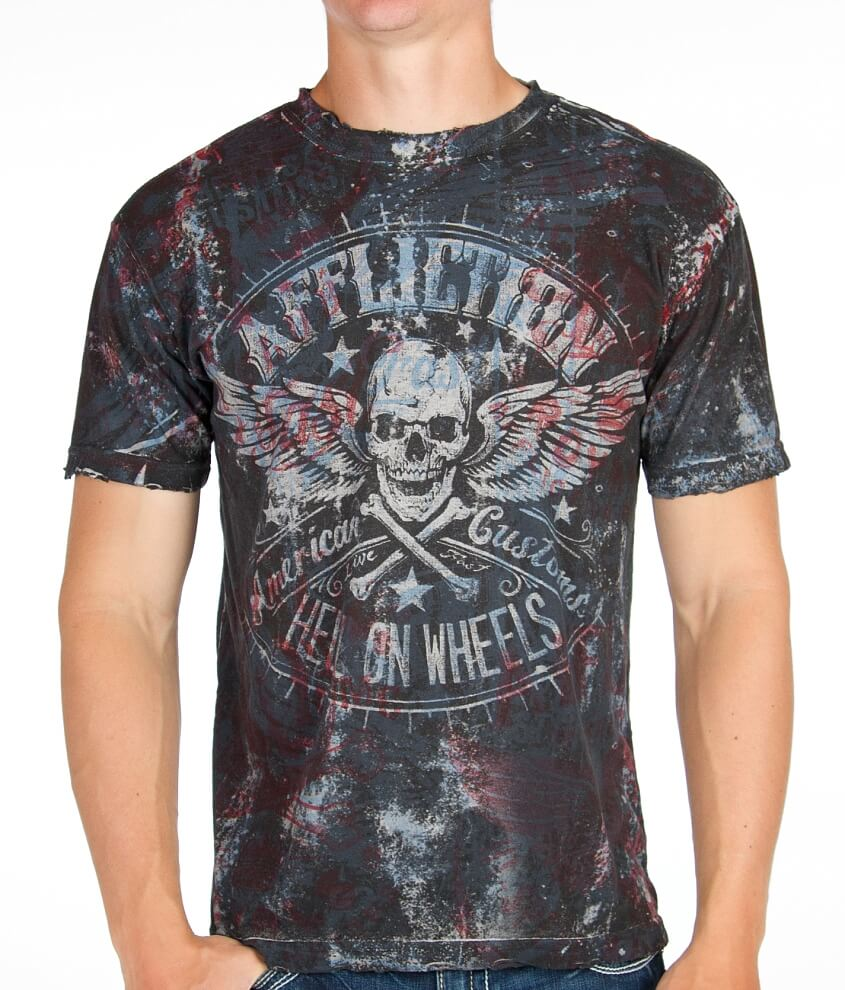 Affliction American Customs H.O.W. T-Shirt front view
