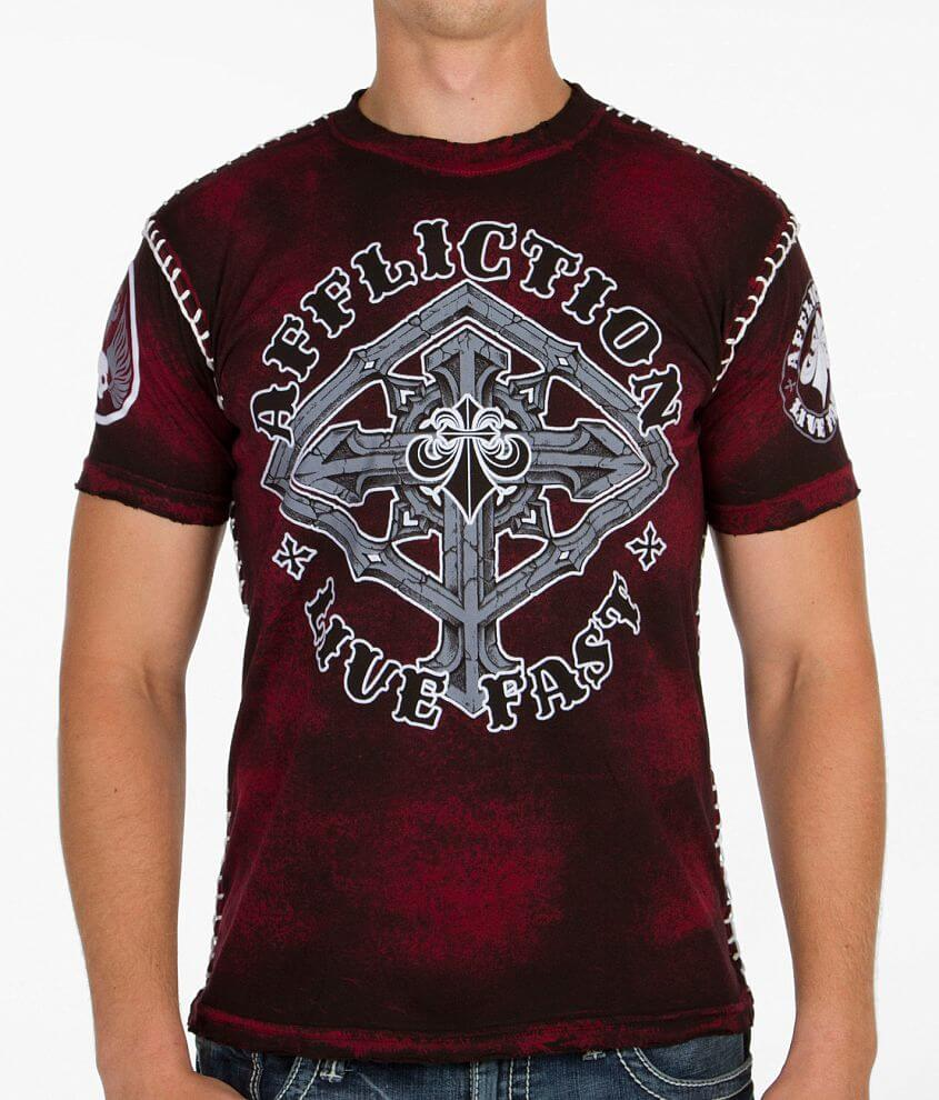 Affliction On Guard T-Shirt front view
