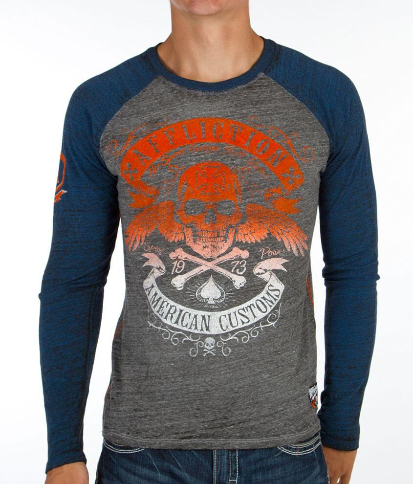 Affliction American Customs Speed Run T-Shirt front view