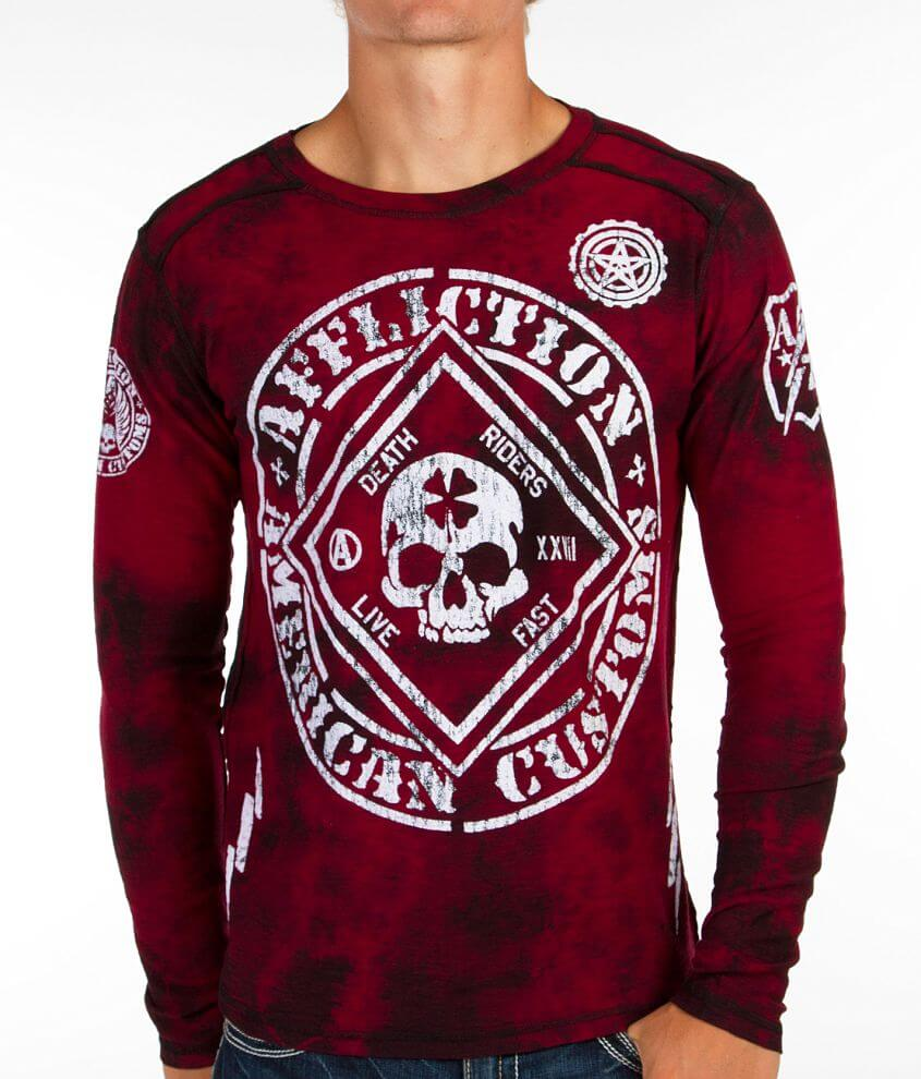 Affliction American Customs Feelin Lucky T-Shirt front view