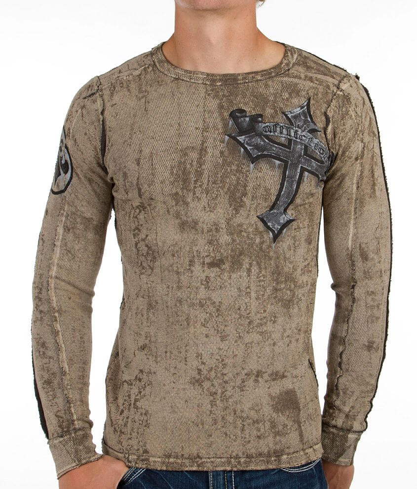 Affliction Wicked Reversible Thermal Shirt front view