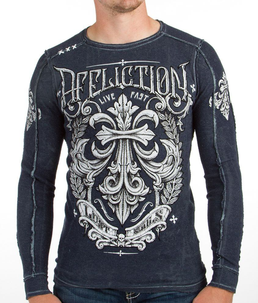 Affliction Corroded Reversible Thermal Shirt front view