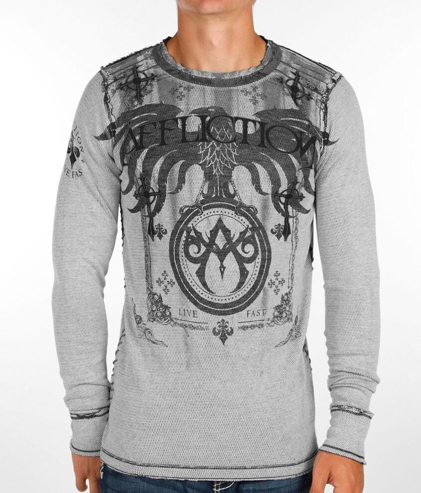 Affliction RSVP Reversible Thermal Shirt front view