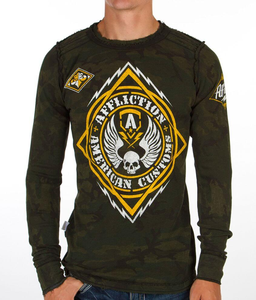 Affliction Mass Power Reversible Thermal Shirt front view