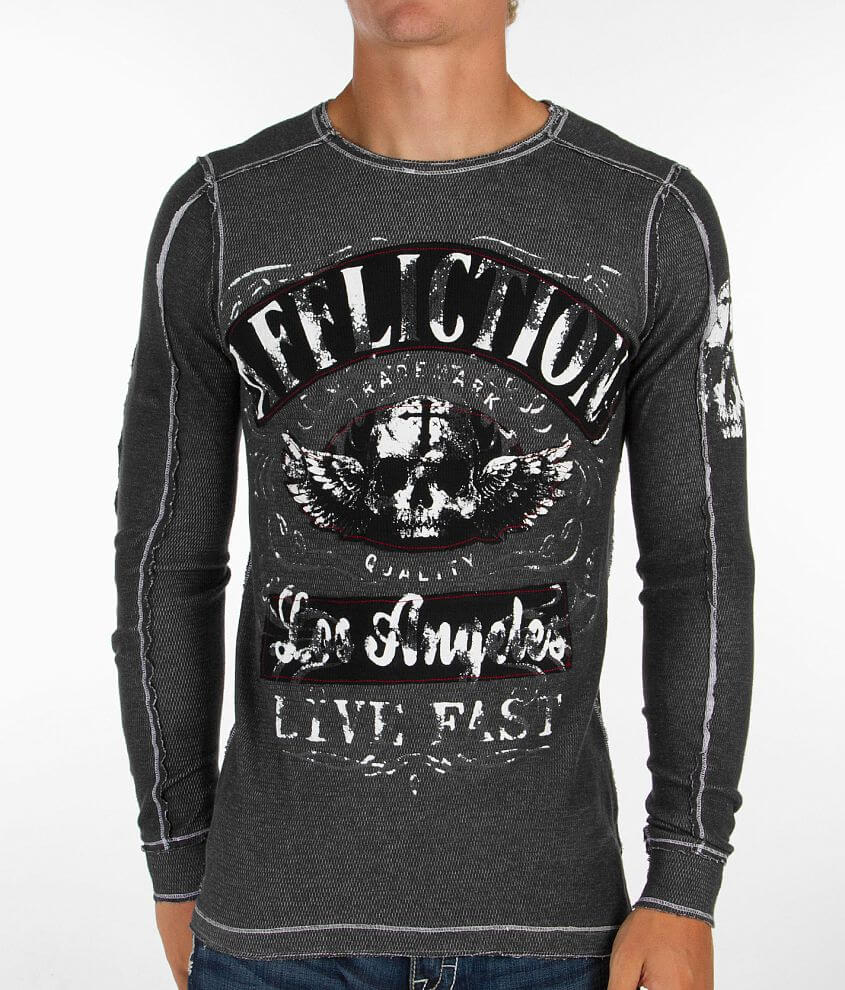 Affliction Davey Jones Reversible Thermal Shirt front view
