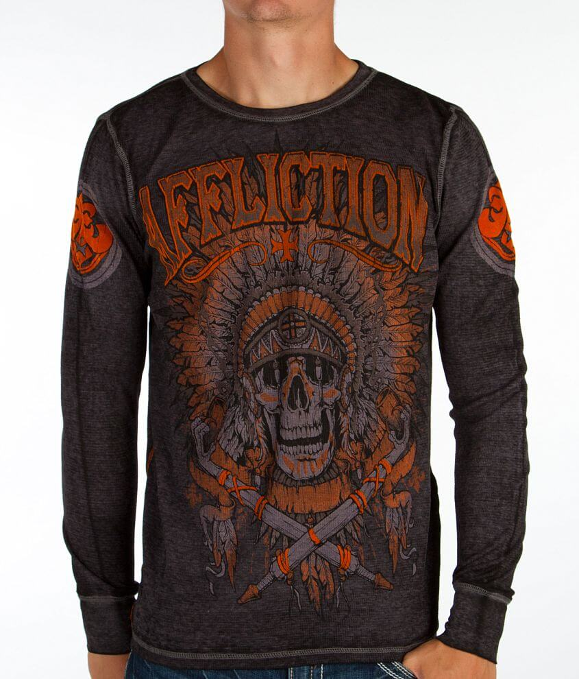 Affliction Guardian Warrior Thermal Shirt front view
