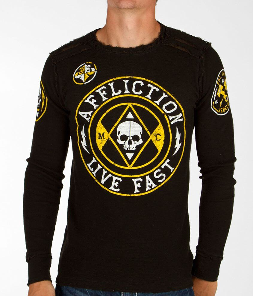 Affliction Rise Reversible Thermal Shirt front view