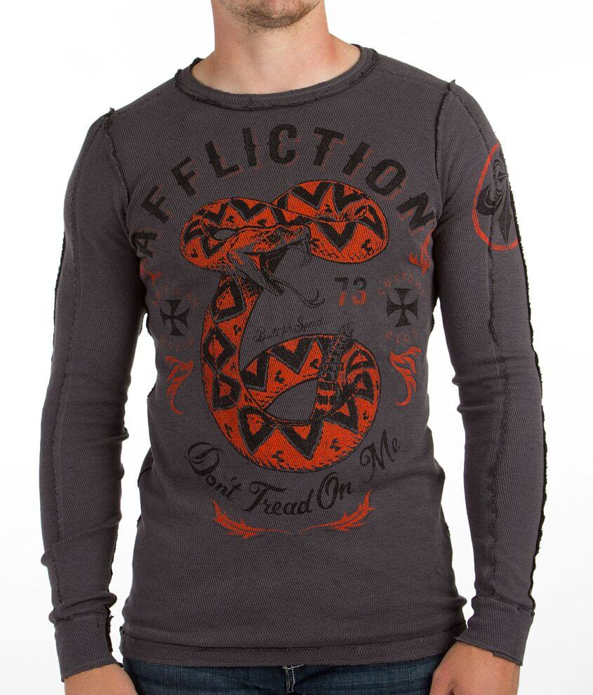 Affliction Revolutionary Reversible Thermal Shirt front view