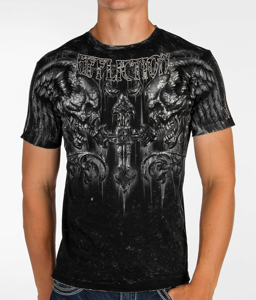 Affliction Fragmented Reversible T-Shirt front view