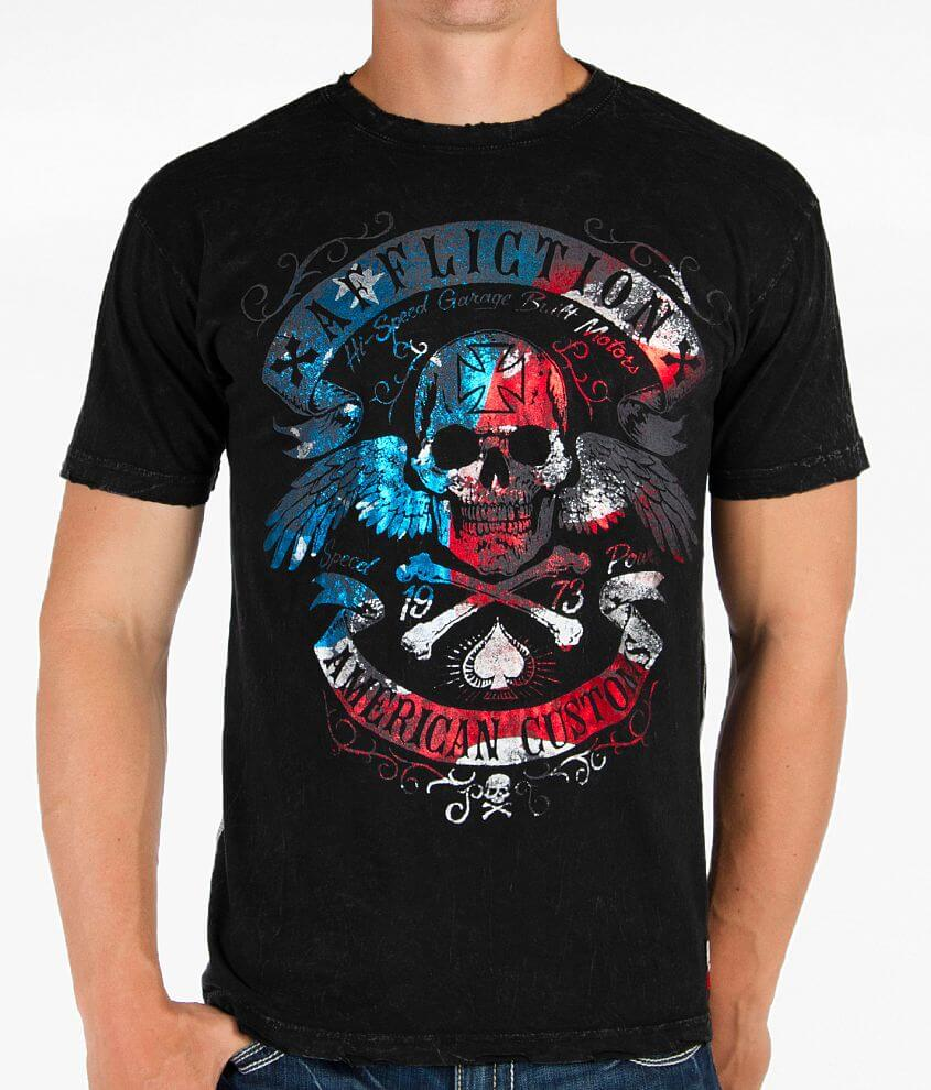 Affliction Americana Speed Run T-Shirt front view
