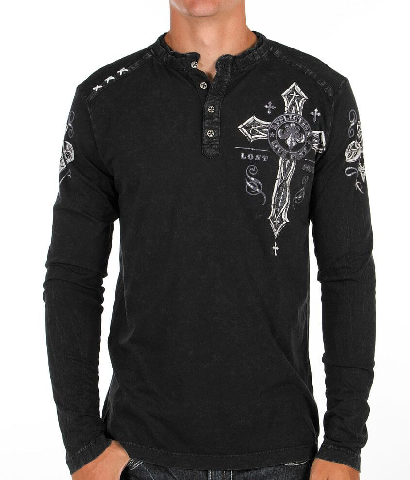 Affliction Centrifugal Henley front view