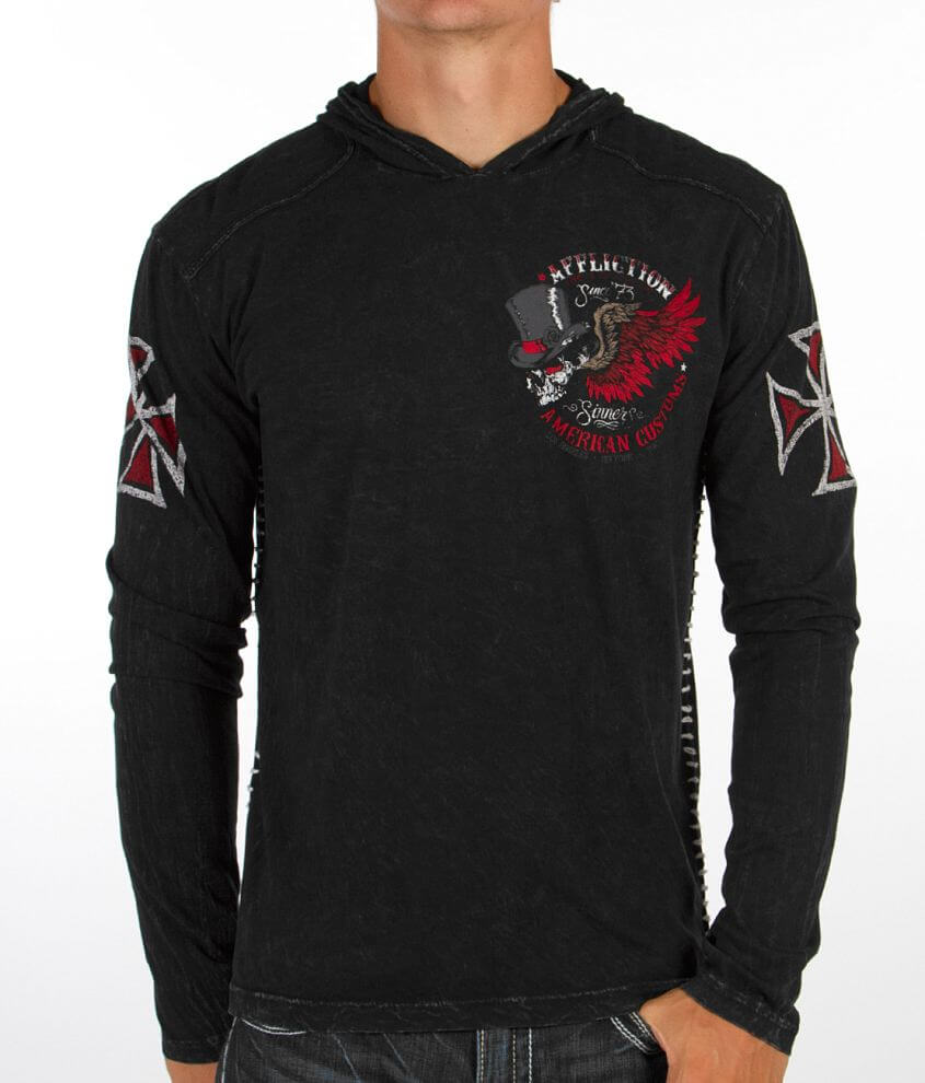 Affliction American Customs No Mercy Hoodie front view