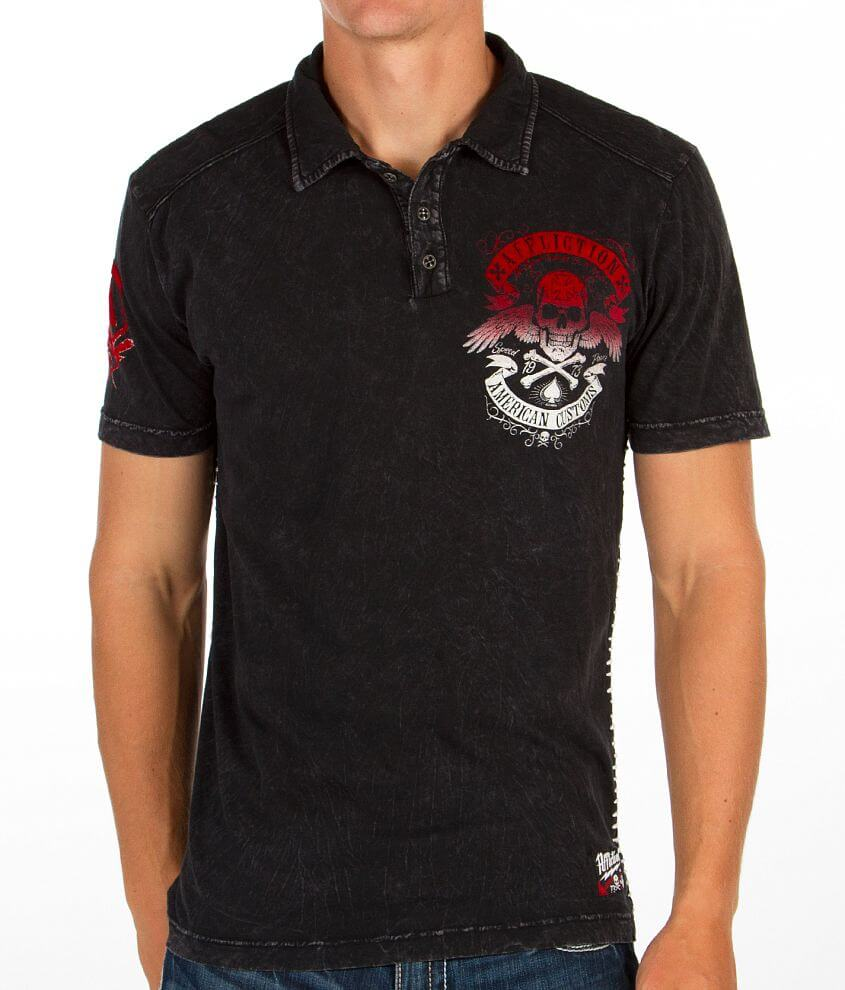 Affliction American Customs Speed Run Polo front view