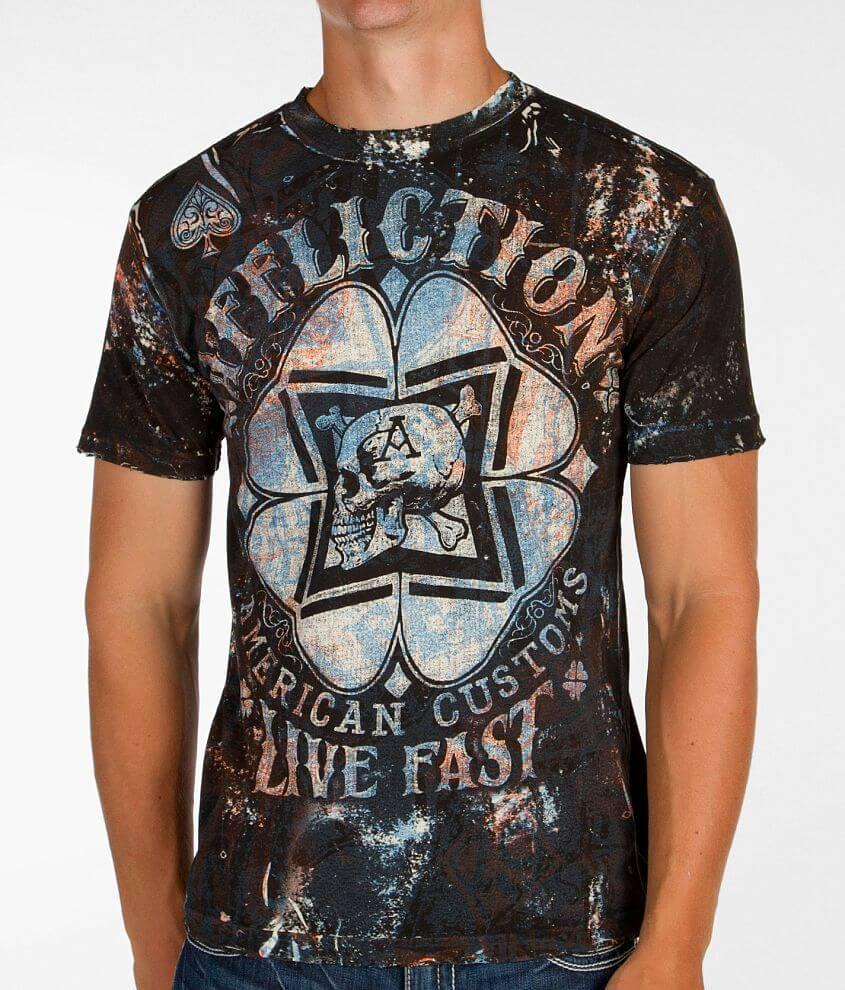 Affliction American Customs Cloverfield T-Shirt front view
