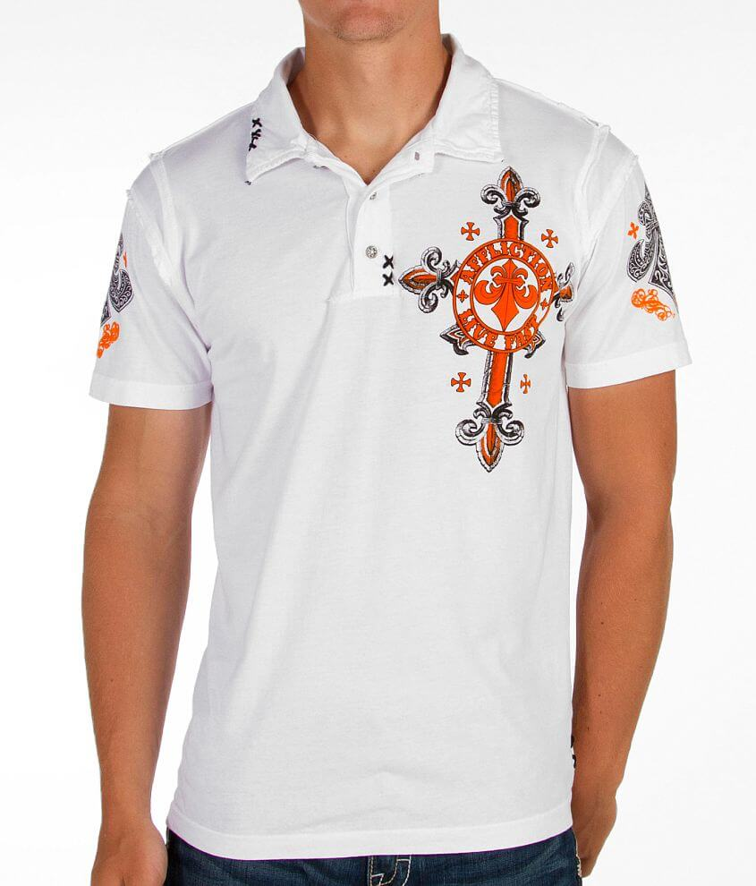 Affliction Lifeless Polo front view