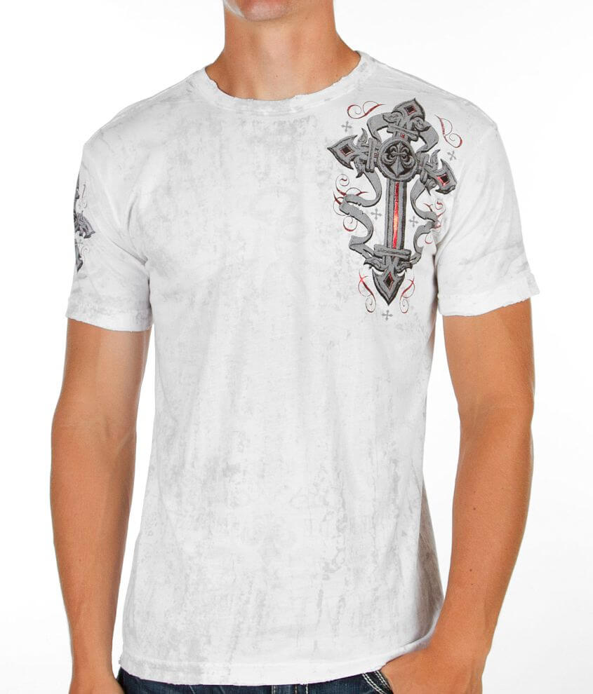 Affliction Dark Soldier Reversible T-Shirt front view