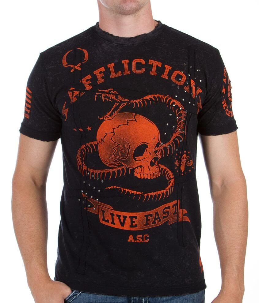 Affliction Snake Eyes T-Shirt front view
