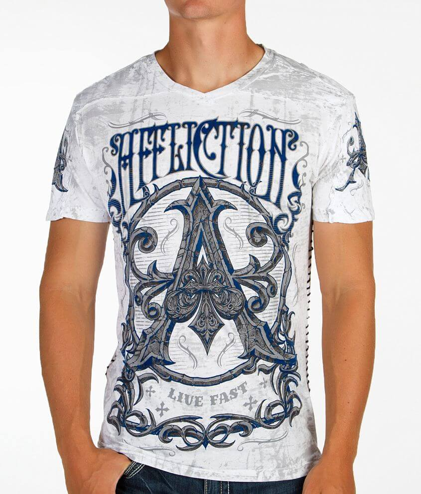 Affliction Caustic V-Neck T-Shirt front view