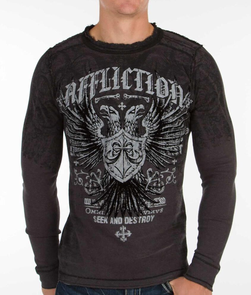 Affliction Liberate Reversible Thermal Shirt front view