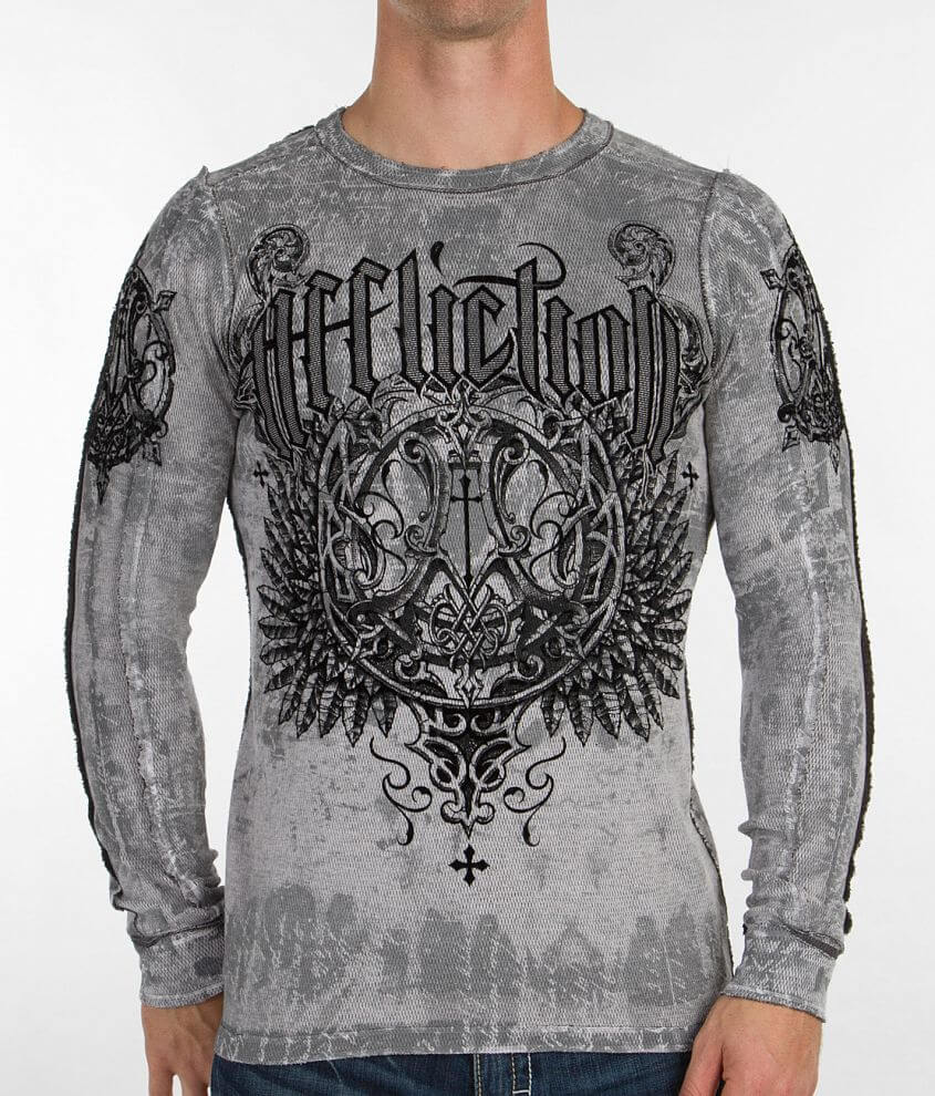 Affliction Deluxe Reversible Thermal Shirt front view