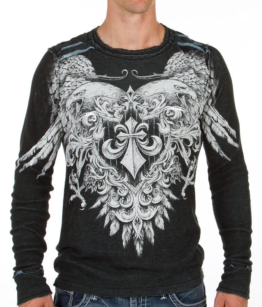 Affliction Sunderland Reversible Thermal Shirt front view