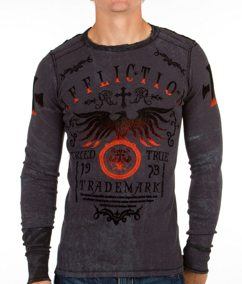 Affliction Tried Truth Reversible Thermal Shirt front view