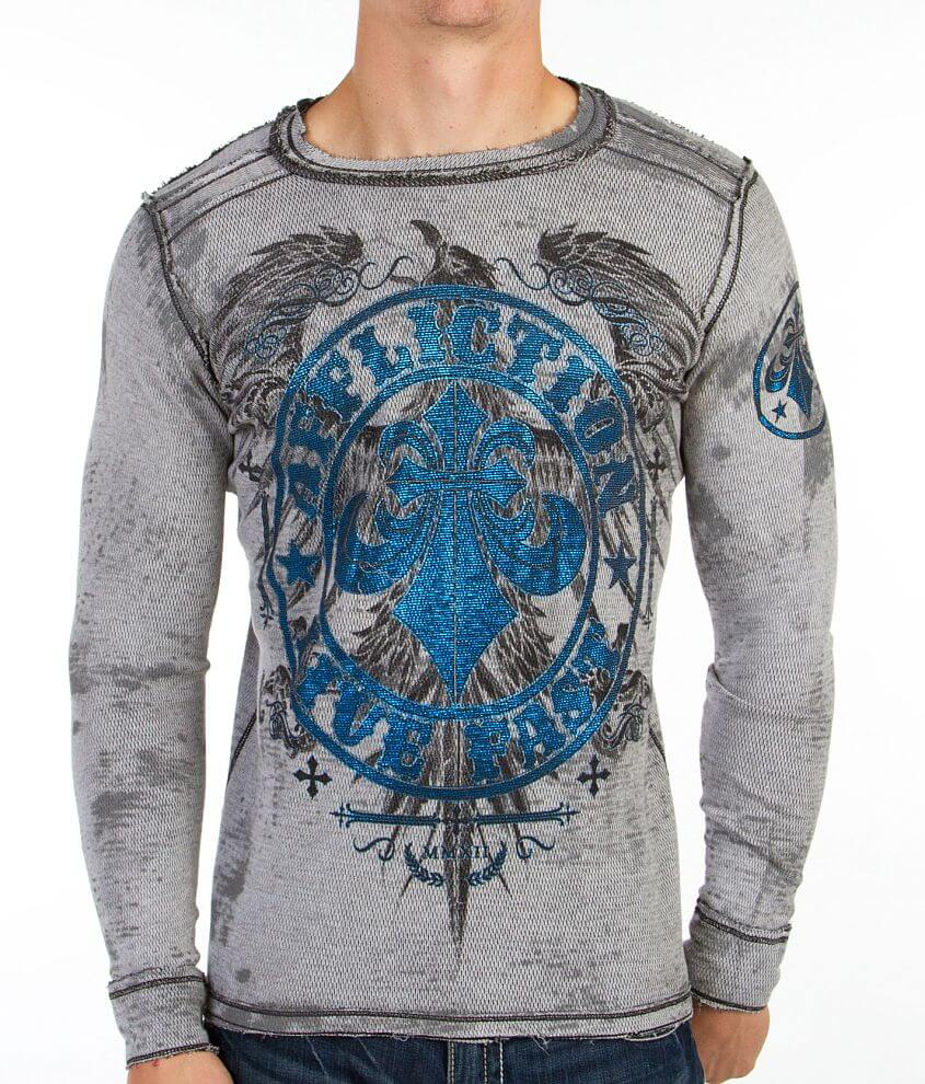 Affliction New Soul Reversible Thermal Shirt front view