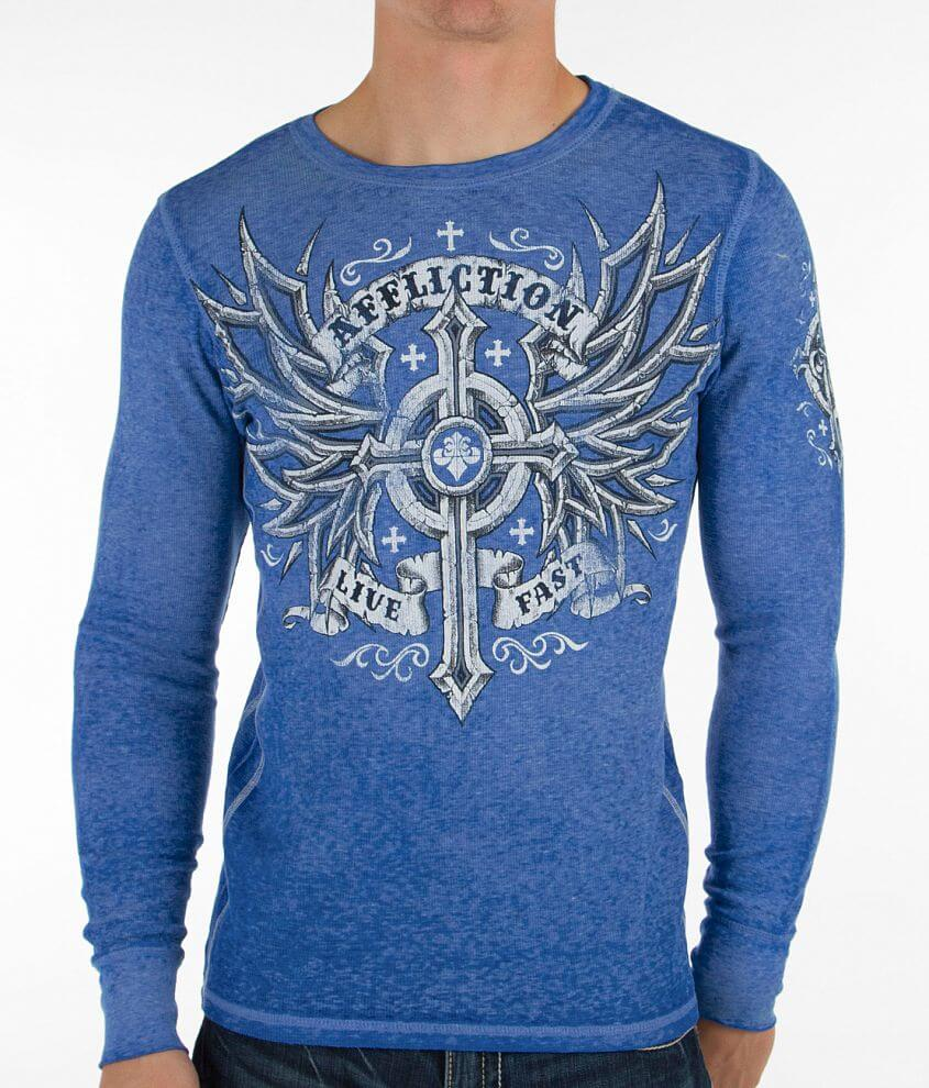 Affliction Microbial Thermal Shirt front view
