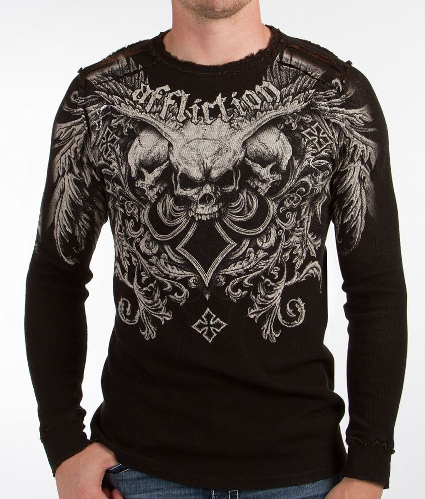 Affliction Demon Hunter Reversible Thermal Shirt front view