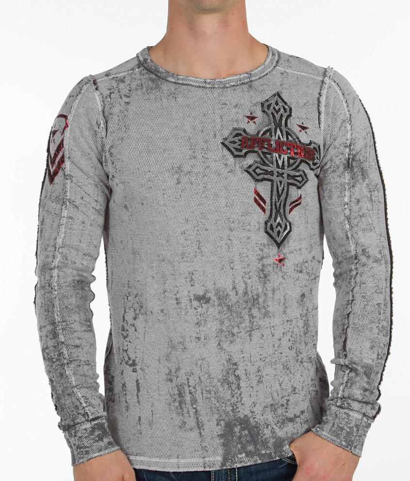 Affliction Sentient Reversible Thermal Shirt front view