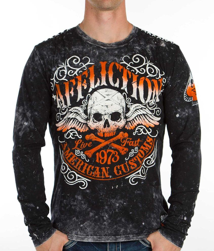 Affliction American Customs Speed Trap T-Shirt front view