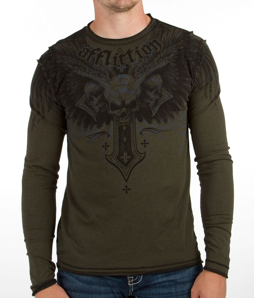 Affliction Demon Eyes Reversible T-Shirt front view