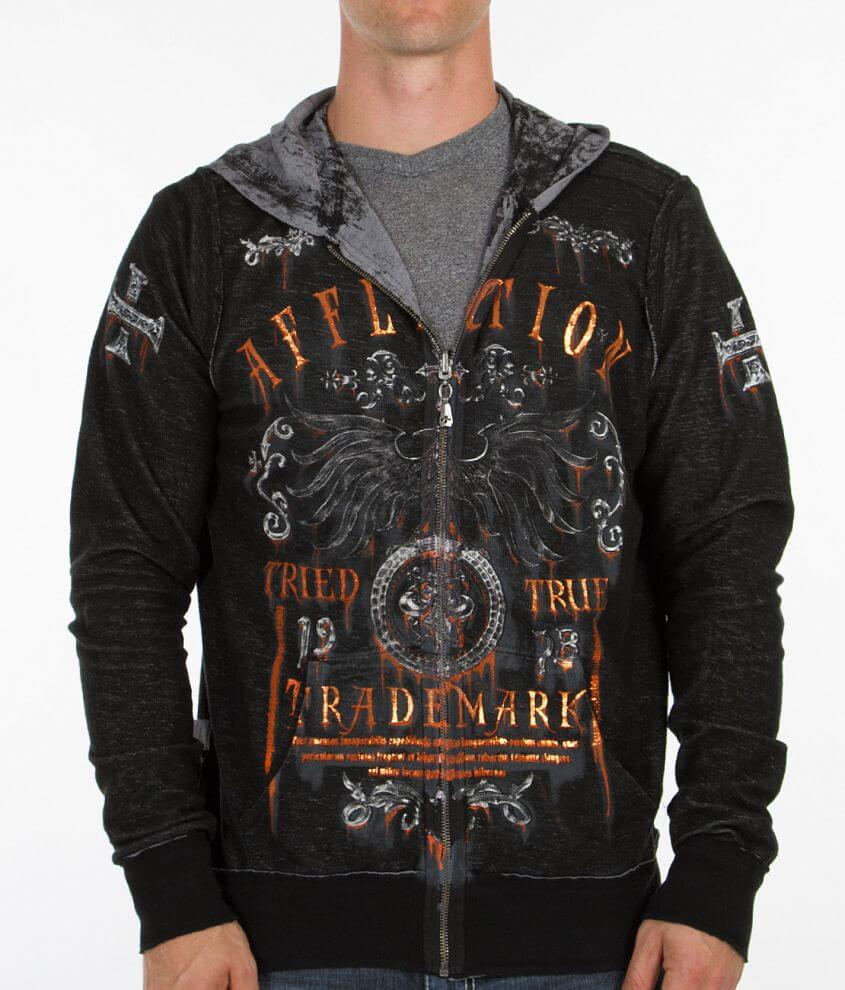Affliction Tried Reversible Hooded Sweatshirt front view