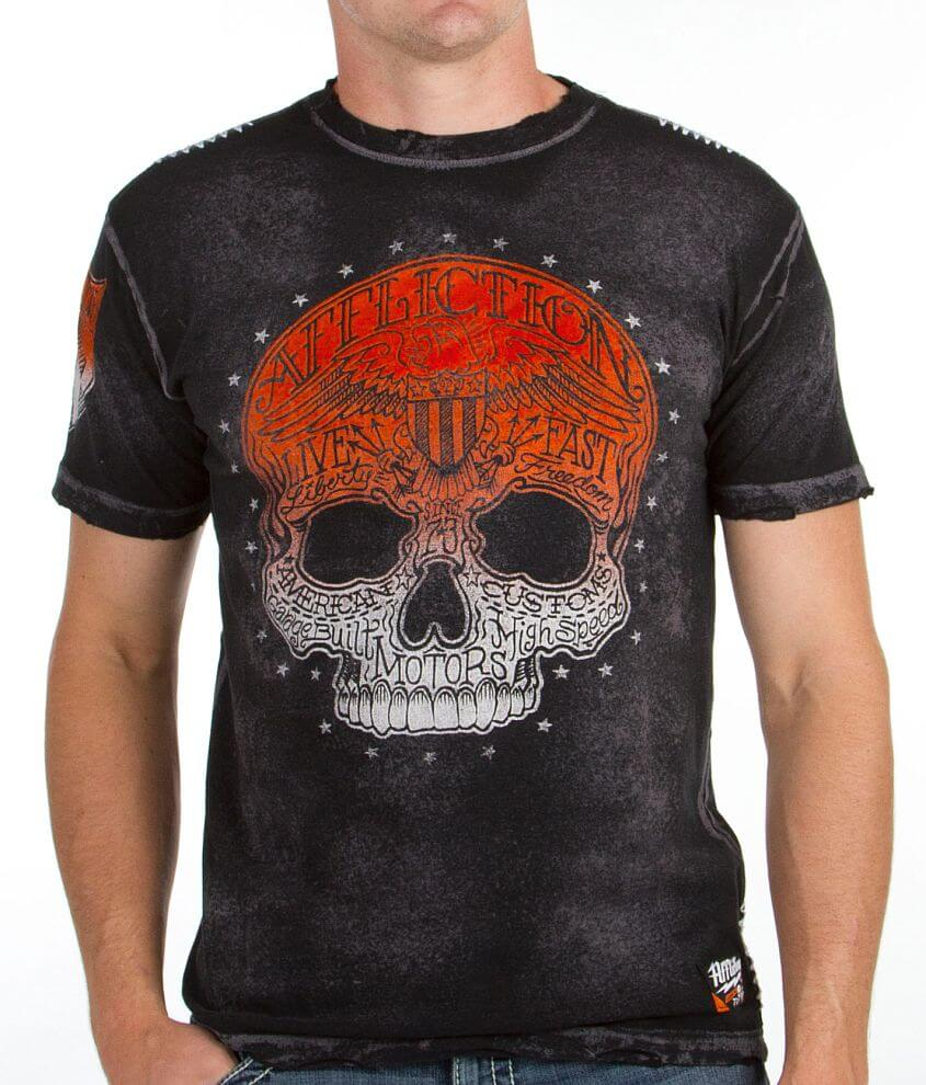 Affliction American Customs Dead Head T-Shirt front view
