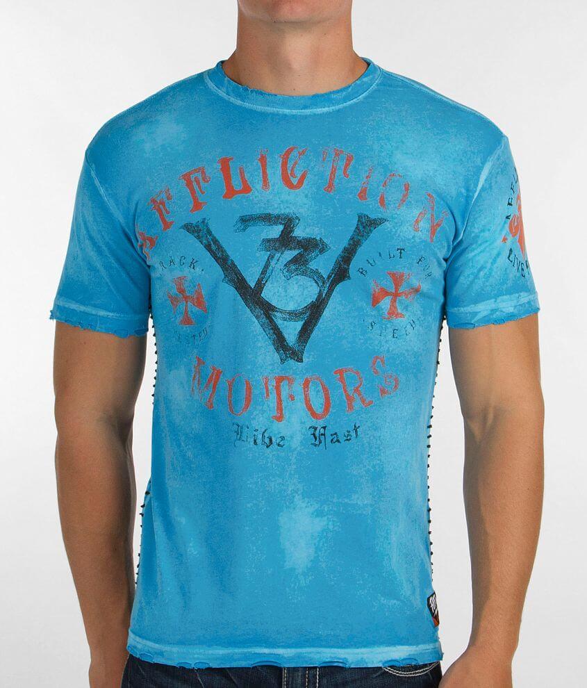 Affliction American Customs Motors Event T-Shirt front view