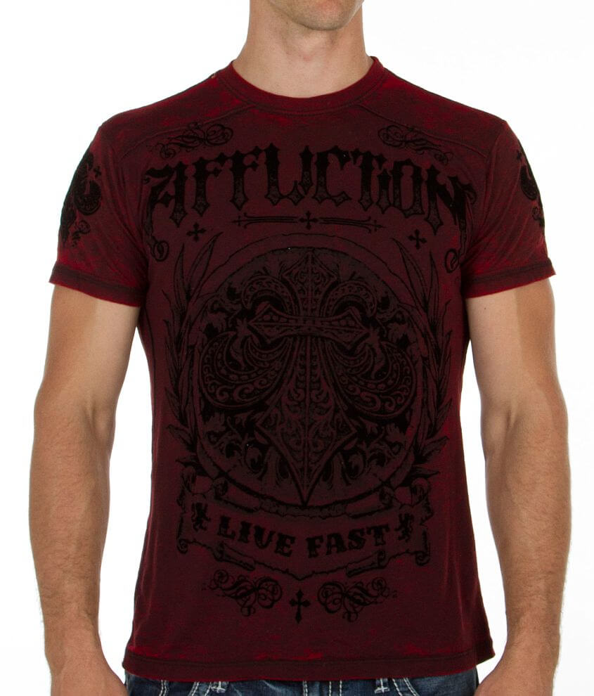 Affliction Plane T-Shirt front view