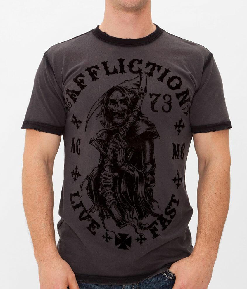 Affliction Death Awaits T-Shirt front view
