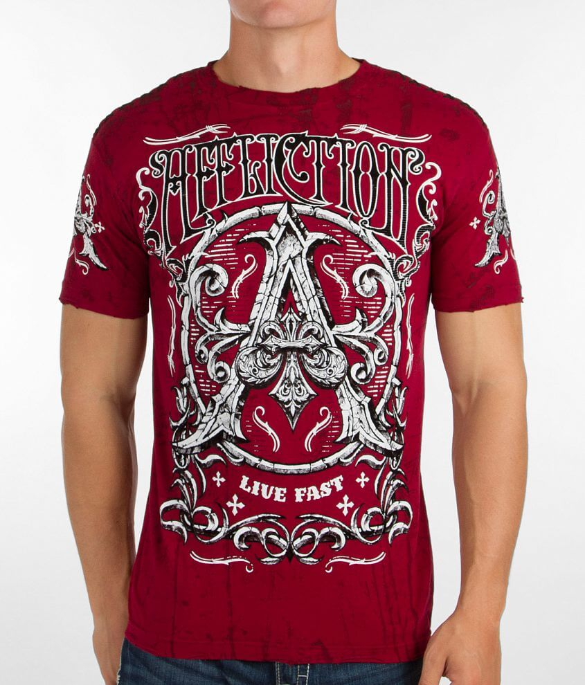 Affliction Death Cross T-Shirt front view