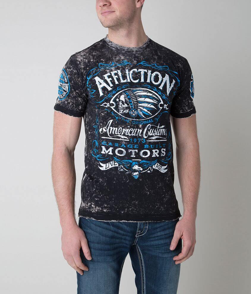 Affliction Prohibition Reversible T-Shirt front view