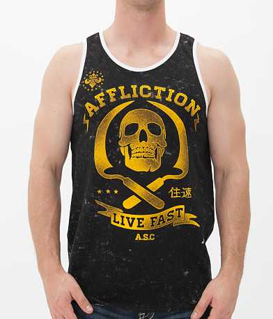 Affliction Crew Reversible Tank Top